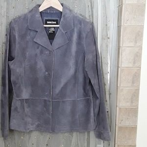 Lavender suede jacket 100% leather NWOT